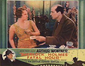 sherlock holmes' fatal hour (the sleeping cardinal) 1931